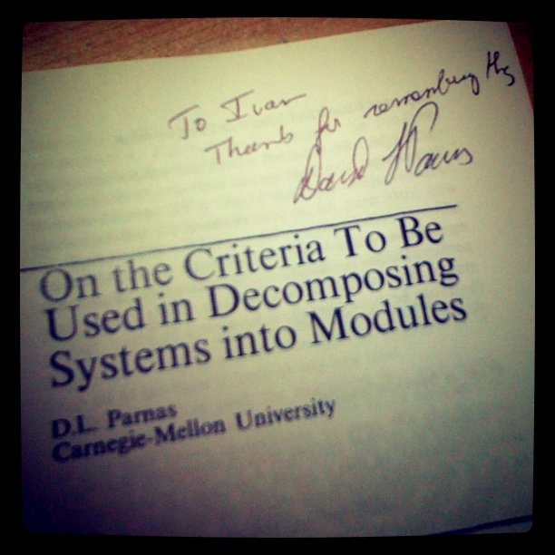D. Parnas has signed his epic paper for me